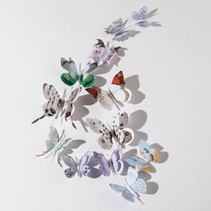 12pcs 3D simulation butterfly  sticker home decoration refrigerator  wall stickers wedding party decoration fake butterfly