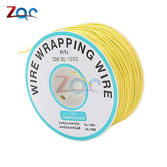 Cable de prueba de cobre para envoltura de aislamiento de 280 m P//N B-30-1000 Cable de envoltura el/éctrica de color de 8 hilos Cable de cobre esta/ñado