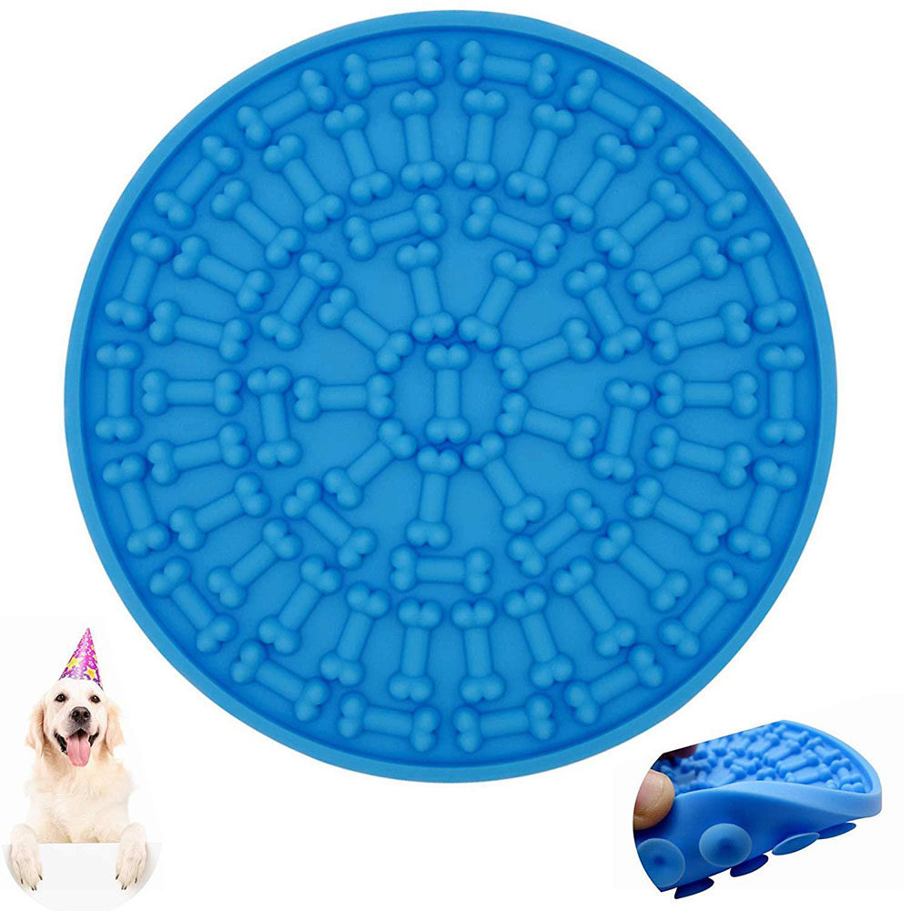 Home Multifunction Suction Cup Wall Mouted Soft Non Toxic Easy Clean Bathing Pet Lick Mat Grooming Distraction Feeding Anti Slip