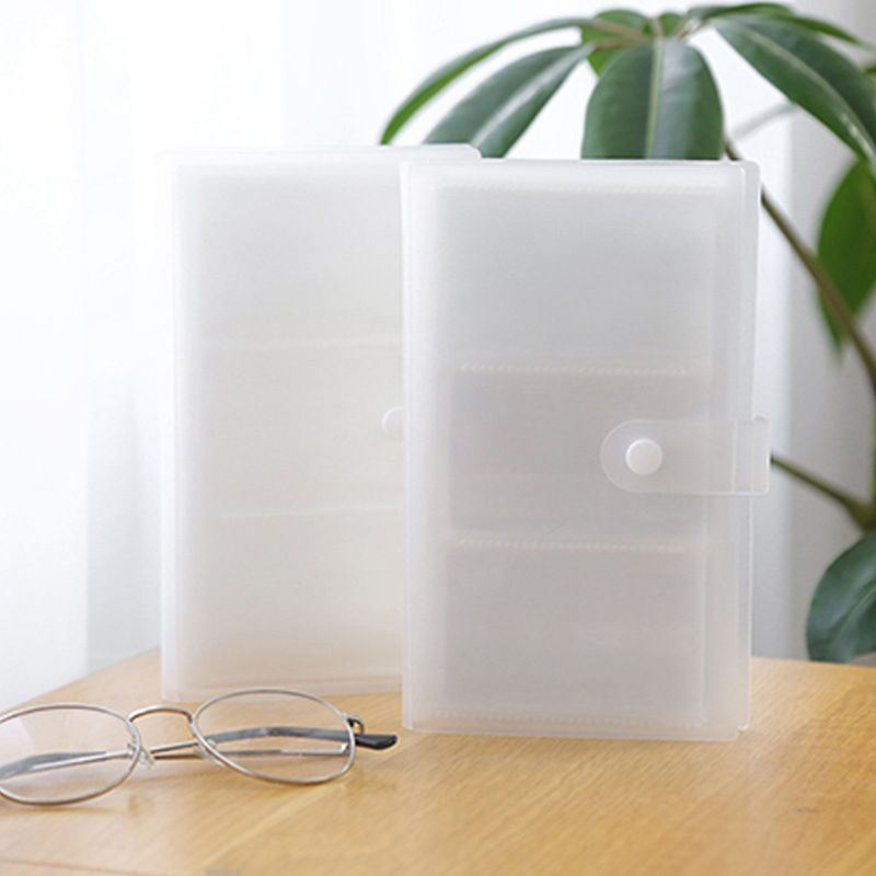 240 Slots Transparent PP Cover Business Card Book Large Capacity ID Holders Ticket Collection Clip 4