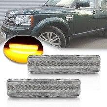 цена на Amber LED Side Marker Lights For Land Rover Range Rover Sport Supercharger LR2 Freelander 2 LR3 Discovery 3 LR4 Clear Lens Lamps