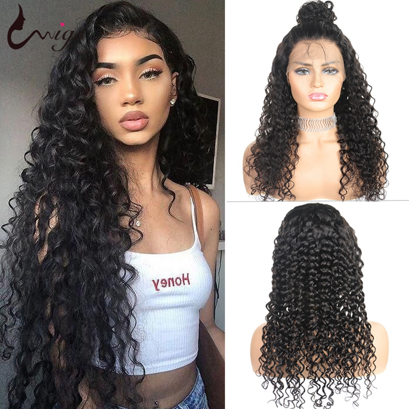 Brazilian Deep Wave Lace Front Human Hair Wigs Pre Plucked 13x6 Deep Part Transparent Remy Lace Wigs For Black Women Uwigs