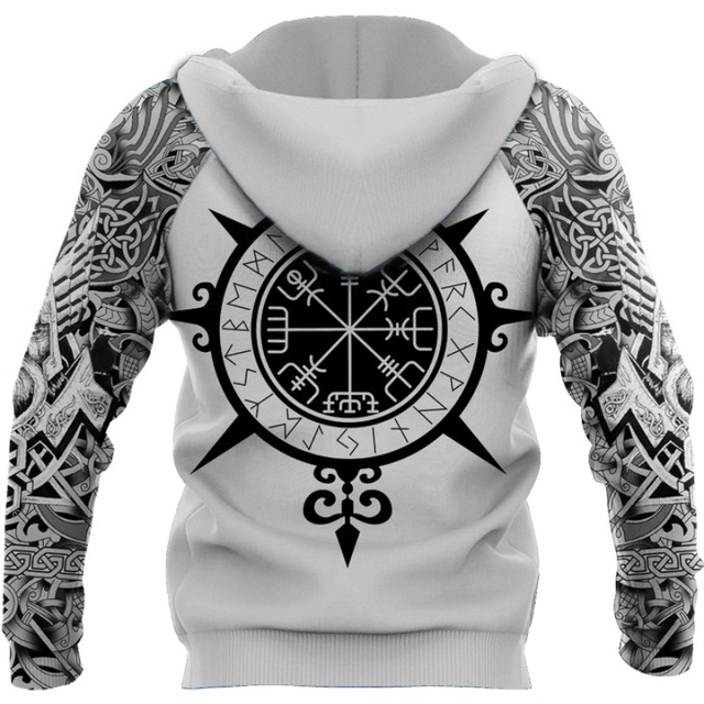 Beautiful Viking Tattoo 3D Printed Hoodie 6