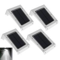 4 pces lâmpadas solares energia 20 led humano indução lâmpada de parede ao ar livre jardim casa iluminação multi funcional lâmpada de parede|Lâmpadas solares| |  -