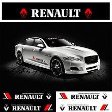 Decals Windshield-Stickers Sunshade Front Renault Car for Twingo Clio/Captur/Zoe Car-Door-Handle