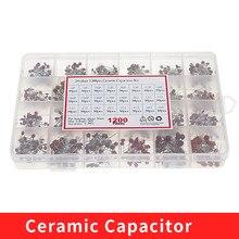24Values Ceramic Capacitor Assortment Kit 2PF-0.1UF 50V Ceramic Capacitors Set 47PF 68PF 100PF 220PF Electronic Capacitor Pack