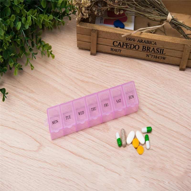 1 pc 휴대용 7 구획 카트리지 키트 플라스틱 크리 에이 티브 스토리지 박스 7 일 자리 홈 용품