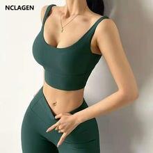 Nclagen 2 peça conjunto de ginásio yoga mulheres roupas de treino sutiã & calças alta elastic treino fitness terno atlético ativo sportwear