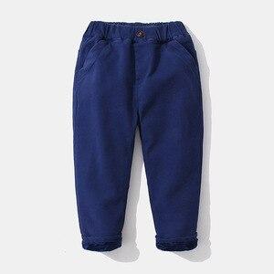 Image 4 - 2020 ילד מכנסיים ילדי סתיו חורף בגדי ילדים מוצקים מכנסיים עבור תינוק נערי מכנסיים חם פעוטות עבה צמר khaqi מוצק