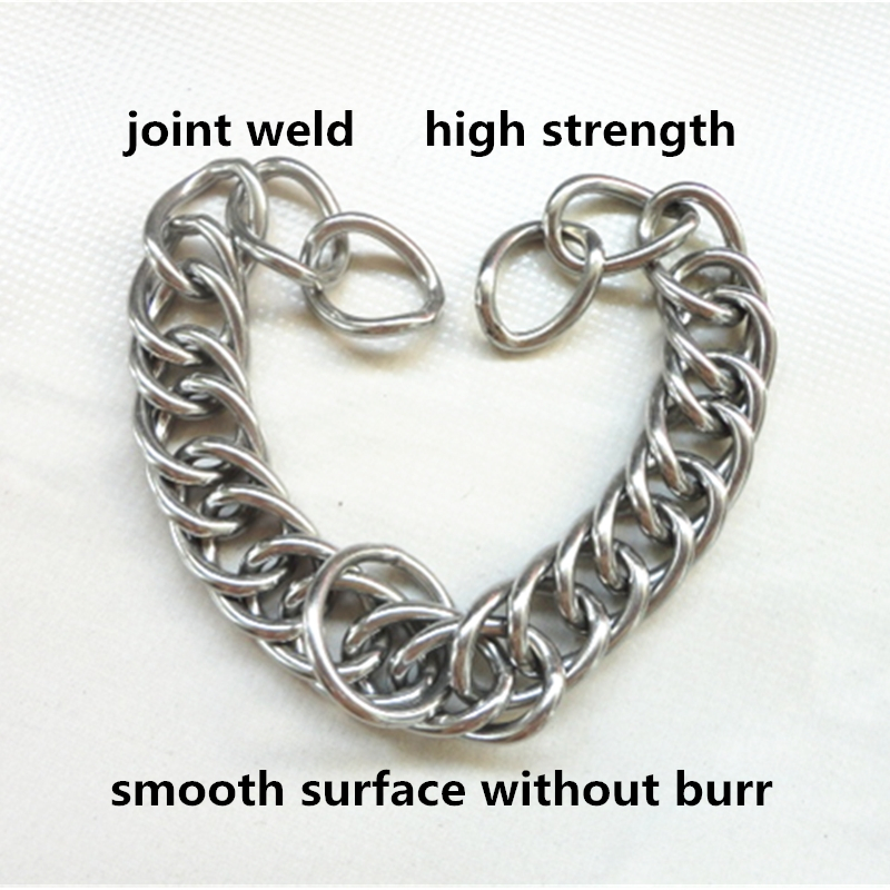 Stainless Steel  Chin Chain Double Link Curb Chain For  Horse Bits Pet 23cm Length