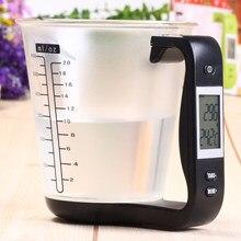 Escala eletrônica copo de medição cozinha escalas digital 4 em 1 beaker libra ferramenta display lcd medição temperatura copos