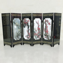 Home Screen Decoration Office Present Commemorative Spring Room Divider Wood Folding Partition(China)