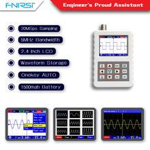 Dso fnirsi pro handheld mini osciloscópio digital portátil 5m largura de banda 20msps taxa de amostragem