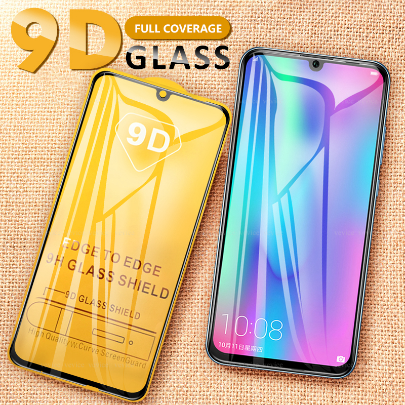 9D Full Protective Screen Protector Shockproof Glass For Huawei Honor 10 Lite Ultra-thin Clear Film Full Coverage Tempered Glass