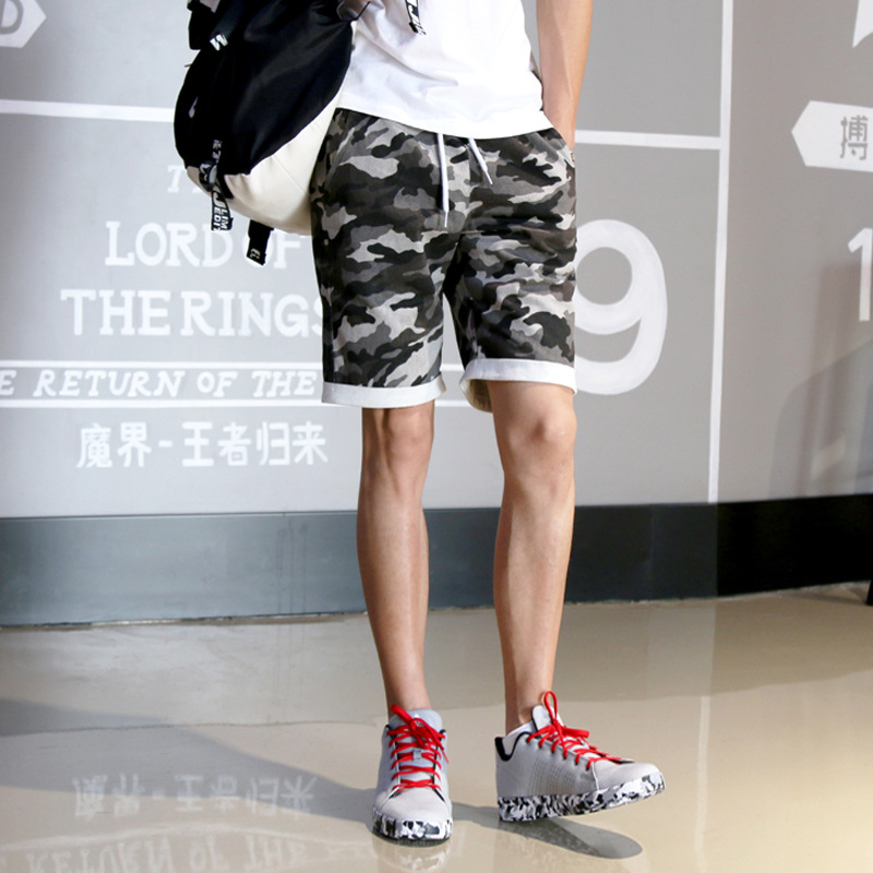 2016 Summer Hot Selling Men Camouflage Casual Pants Korean-style Slim Fit Youth Men Revers Short Shorts Fashion S55