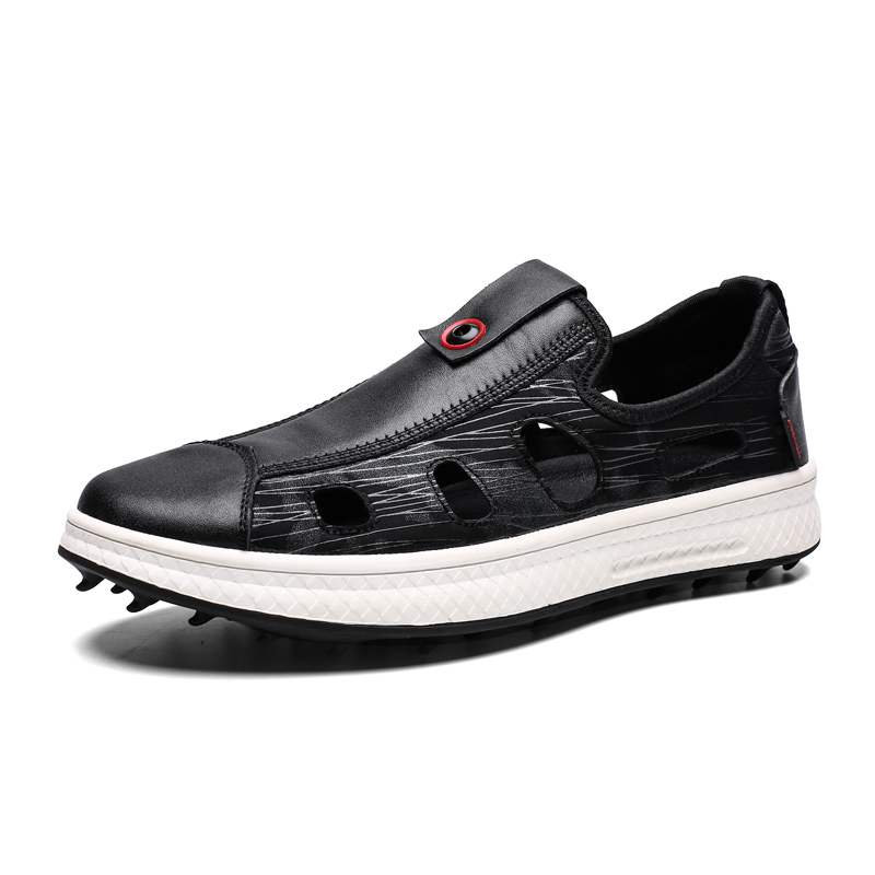 Summer Golf Shoes For Men Breathable Comfortable Golf Sandals Mens Sport Training Shoes Leather Golf Trainers Brand Sneakers Men