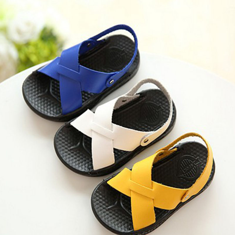 2020 New Arrival Children's Soft Bottom Sandals Summer Beach Shoes Comfortable Baby Toddler Shoes Boys Sandals For Kids D02151