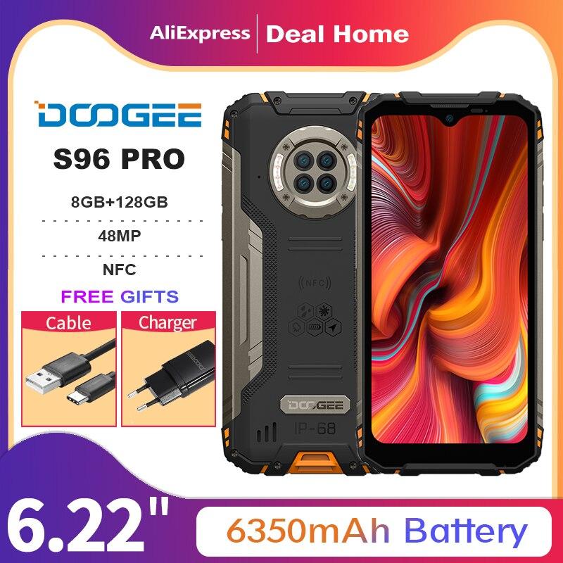Смартфон DOOGEE S96 Pro, 8 + 128 ГБ, 48 МП, 20 МП, 8 ядер, 6,22 дюйма, 6350 мАч