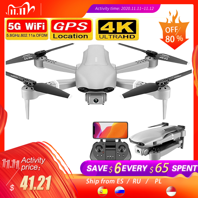 2020 nuevo F3 drone GPS 4K 5G WiFi video en vivo FPV quadrotor vuelo 25 minutos rc distancia 500m drone HD gran angular doble cámara dron con camara