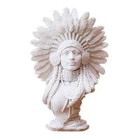 Home Decoration Sandstone White Plaster Portrait Art Deco Home European Sculpture Crafts India Modern Art Decoration Gifts