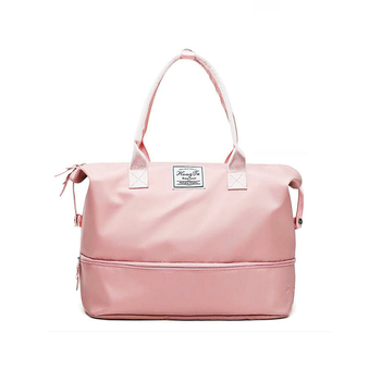 Pink Women Sport Bags For Gym Duffel Luggage Shouder Bag Fitness Yoga Waterproof Large With Shoe Compartment