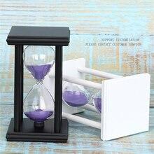 45/60 Minutes Hourglass Sand Timer Kitchen School Modern Wooden Hour Glass Sandglass Sand Clock Tea Timers Home Gift Decorati L1