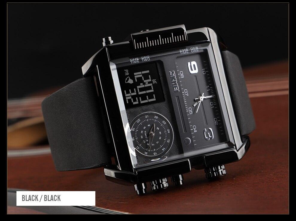 esportes relógios moda militar preto relógio masculino