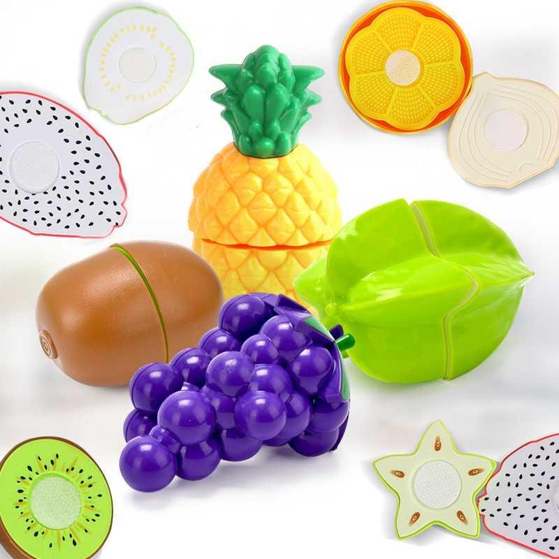 Brinquedo de cozinha em miniatura crianças brinquedos fingir jogar alimentos cognição educação meninas falso frutas festa cozinha brinquedo para crianças plástico