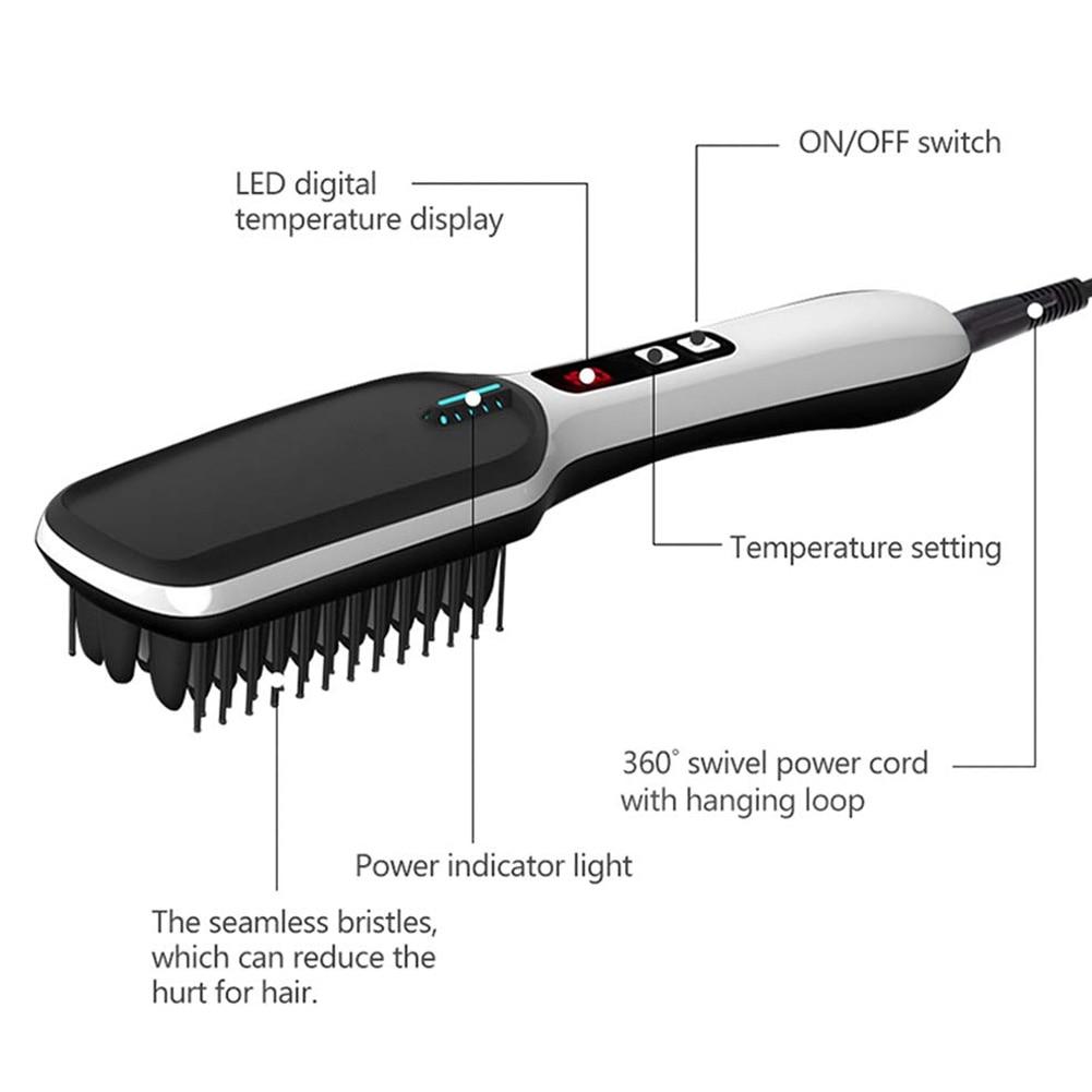 Beard Straightener With LED Display Ionic for Men Beard Straightening Comb 3