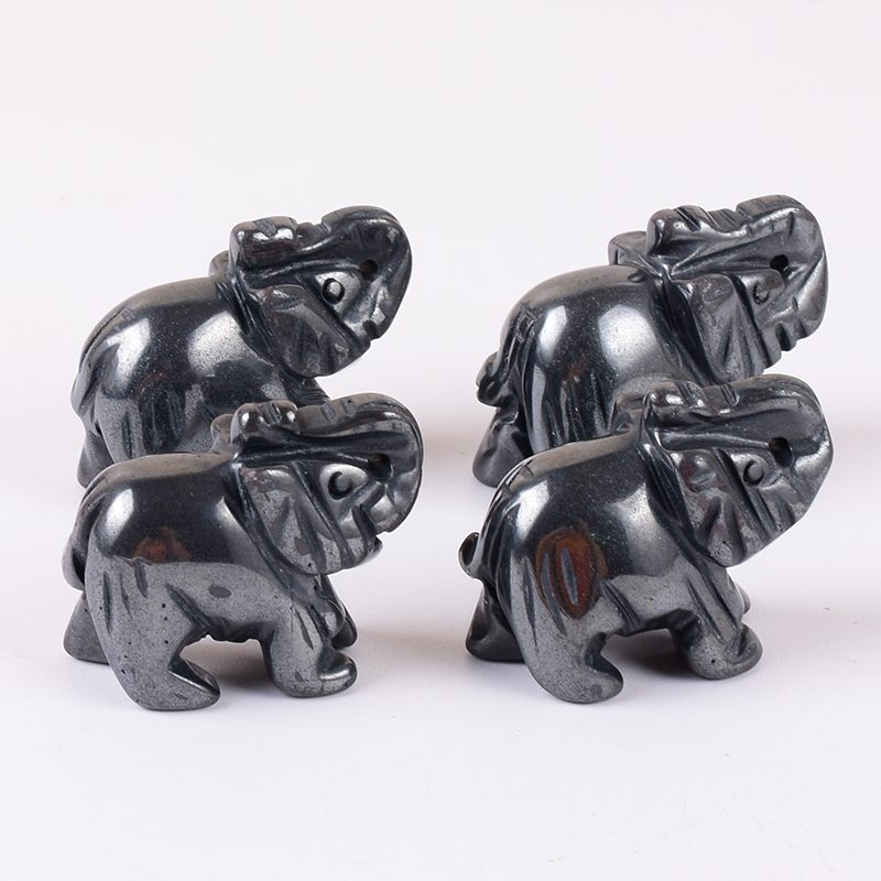 Details about  /R3975 Beautiful Carved Hematite Gemstone Elephant Necklace 17.5 inch