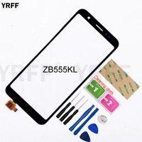 Cep telefonları ve Telekomünikasyon Ürünleri'ten Cep Telefonu Dokunmatik Paneli'de 5.5 ''dokunmatik ekran Asus ZenFone Max için M1 ZB555KL dokunmatik ekran digitizer sensör cam Panel değiştirme