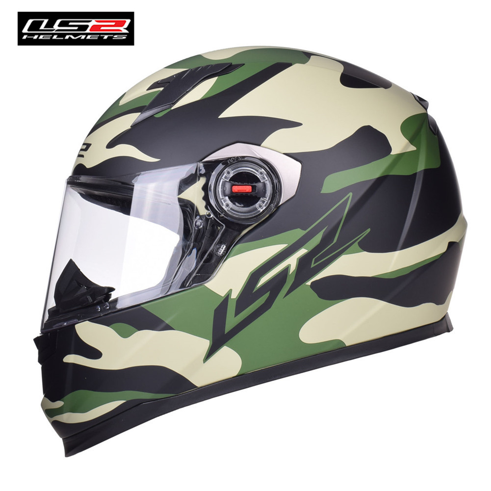 LS2 Racing Motorcycle Helmet Full Face Casque Casco Capacete Moto Kask Helm Helmets Crash For Suzuki Motorsiklet Bike FF358