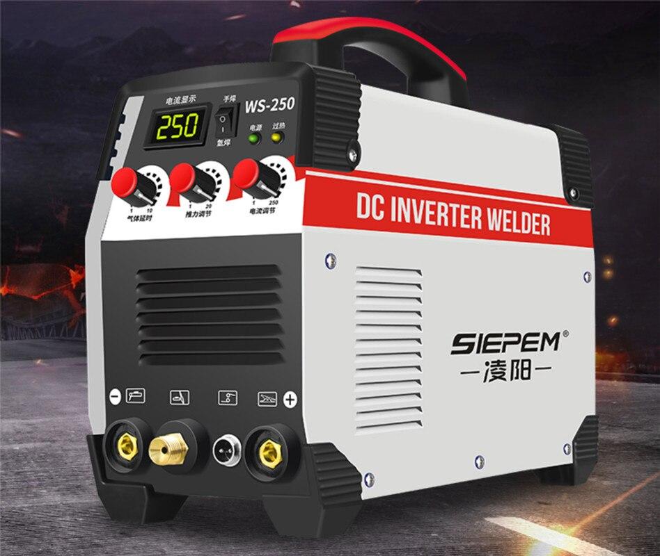 Inwerter Arc spawarka elektryczna 220V 250A spawacze MMA do spawania praca elektronarzędzia robocze 2w1 ARC/TIG IGBT