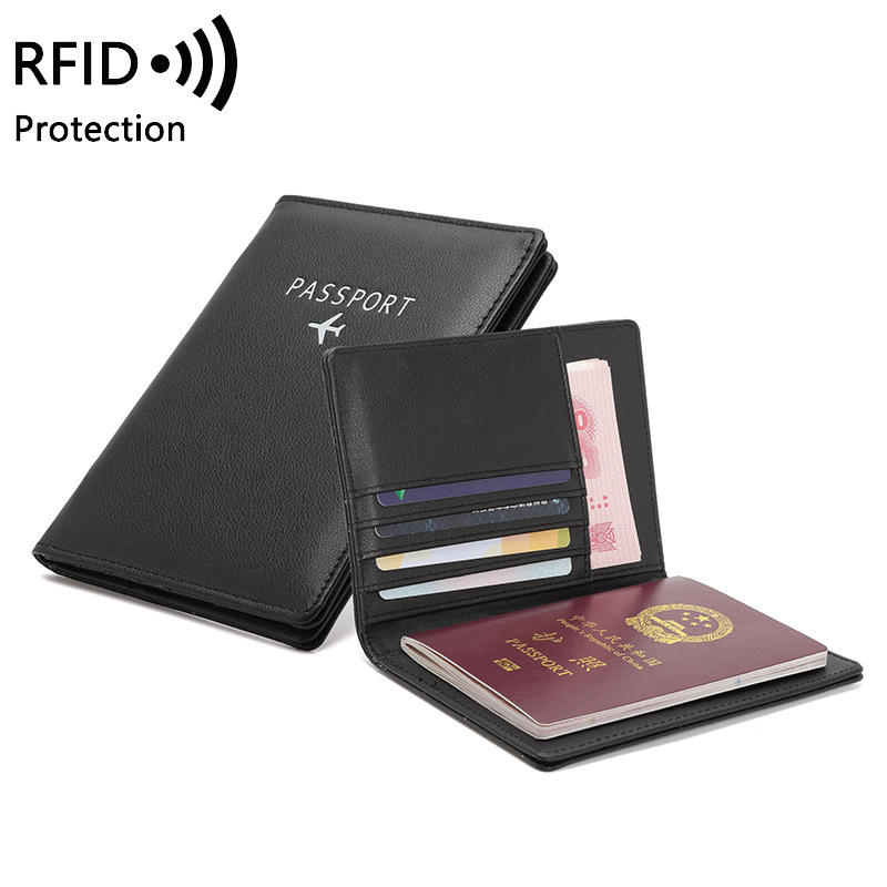 Anti RFID Fashion Passport Wallet Covers Holder ID Travel Accessories Women Men Bank Creditcard Card Business PU Leather Case