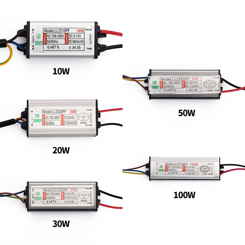 10W 20W 30W 50W 100W LED Driver DIY Dimmable High Power LED Driver Supply Light Chip Waterproof Goodish Constant Current