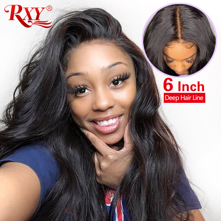 13x6 Body Wave Lace Front Wig Rxy Lace Front Human Hair Wigs For Black Women Brazilian Remy Hair 250 Density Preplucked Lace Wig