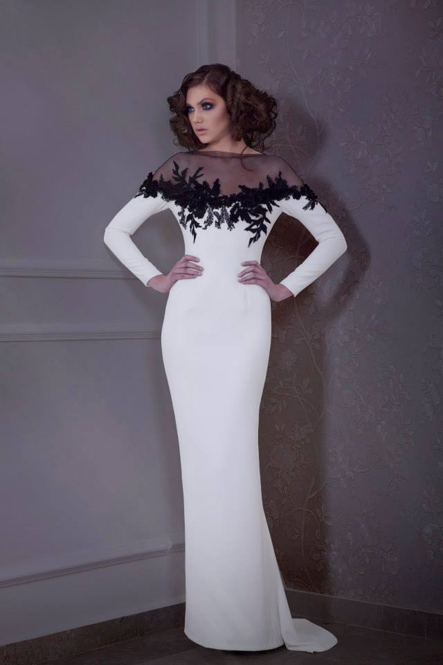 Free Shipping 2018 Vestidos De Madrinhas Lace Appliques Long Sleeve Evening Party Long Formal Gowns Mother Of The Bride Dress