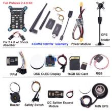 Pixhawk 2.4.8 PX4 PIX 32 קצת טיסה בקר טייס אוטומטי w/ 16G SD בטיחות מתג זמזם PPM I2C RGB telemetryfor RC Quadcopter
