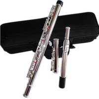 High Quality Japan flute FL 471 16 Holes Silver Plated Transverse Flauta obturator C Key with E key music instrument Dizi