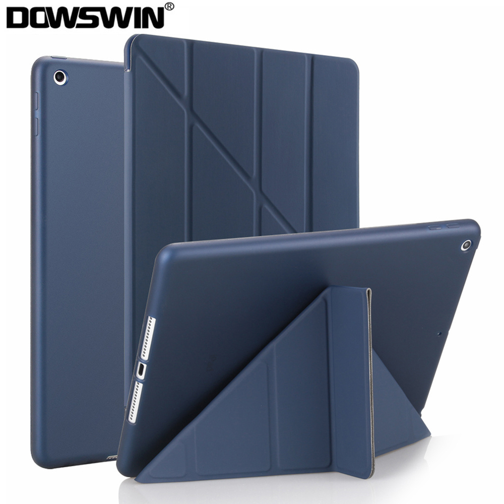 For iPad 10.2 Case PU Leather Silicone Soft Cover for iPad 7th Generation Flip Stand
