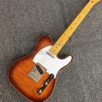 Brand New Standard Electric Guitar Maple Fretboard Custom Shop Sunburst musical instrument guitar,Canada nut,Italy Gallistrings
