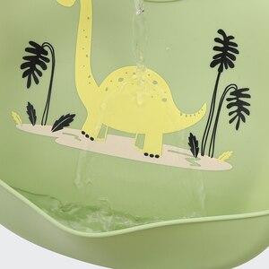 Image 5 - 10 Pcs Baby Bibs Silicone Waterproof Feeding Drooling Kids Bibs Newborn Cartoon Apron Adjustable Burp Cloths Saliva baby stuff