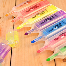 Highlighter-Pen Chalk Marker School-Supplies Stationery Oblique-Head Candy-Color Student