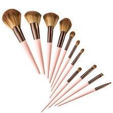 4/5/7/11 pçs pincel de maquiagem conjunto de ferramentas de maquiagem pó sombra para os olhos fundação líquido blush mista kit de maquiagem de beleza ferramenta