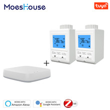 Zigbee Smart Thermostatventil Controller TRV Thermostat Tuya Temperatur Voice Control Arbeitet mit Alexa Google Hause