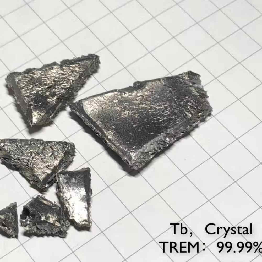 TB เทอร์เบียมบริสุทธิ์ 99.99% ตารางธาตุหายาก Earth องค์ประกอบโลหะ Magnetic  Materials