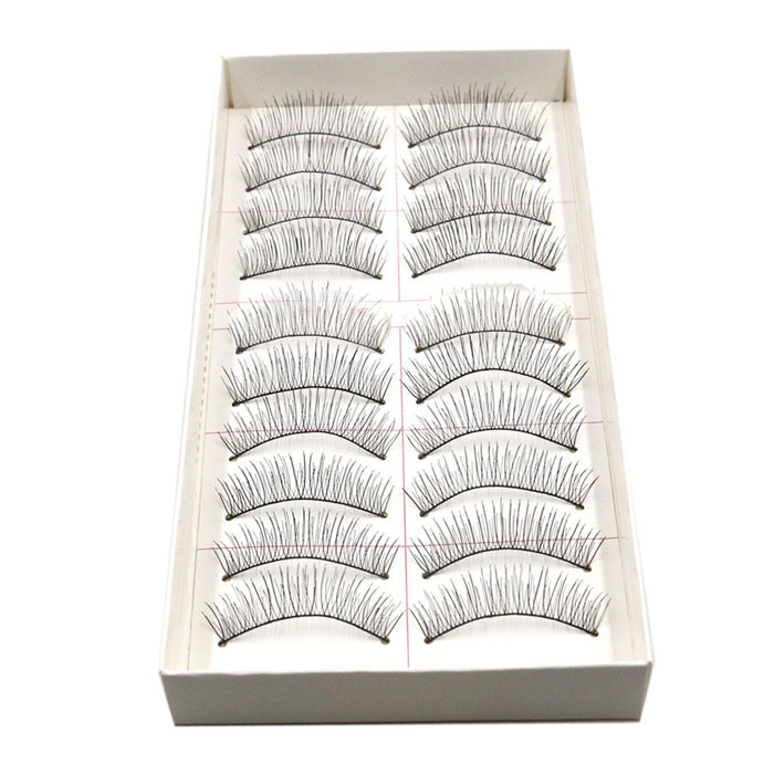 <font><b>10</b></font> <font><b>Pairs</b></font> Long Thick False Eye Lash 3d Hair False <font><b>Eyelashes</b></font> Natural/thick Long Eye Lashes Makeup Beauty Extension Tools#0630ljc image