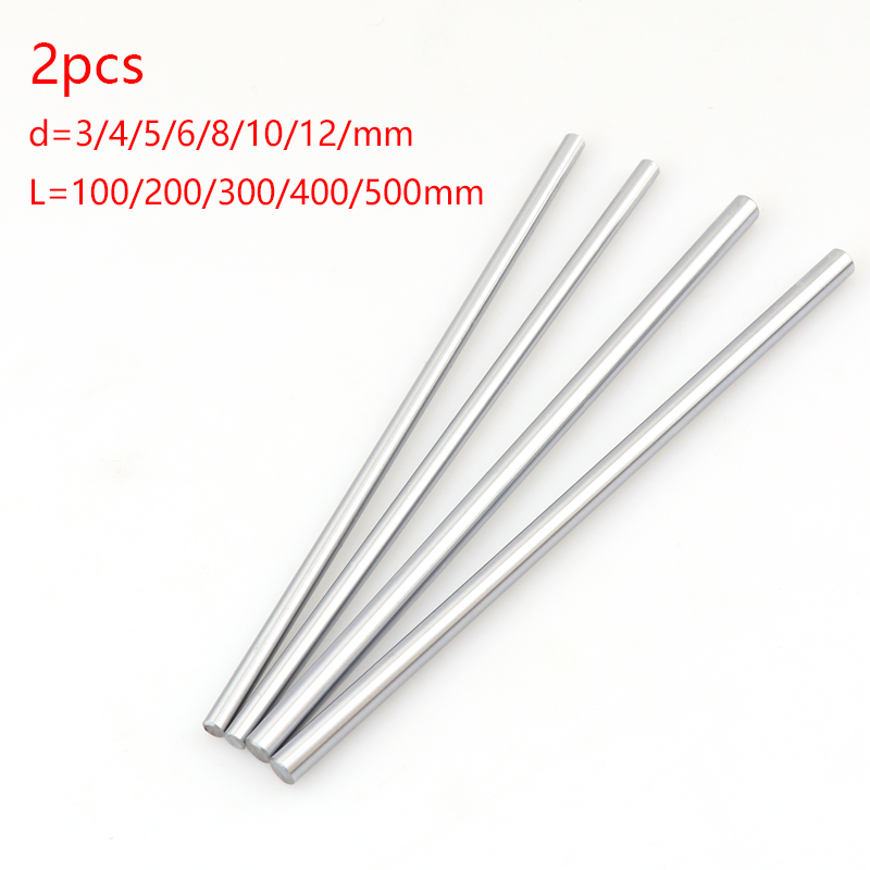 2pcs linear shaft guide rail 3d printer parts Cylinder Chrome Plated Liner Rods axis Linear shaft ro