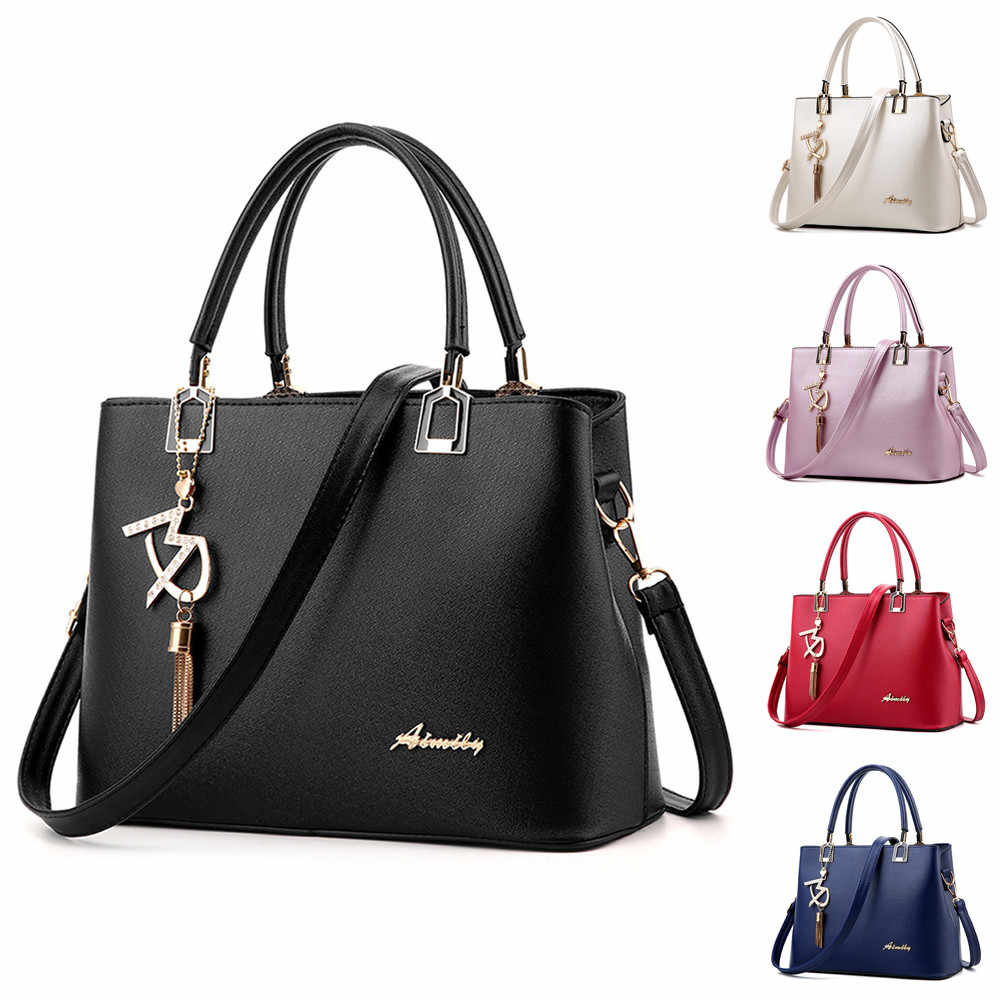 Women Large Capacity Solid Color Crossbody Shoulder Bag  High Quality Hangbag Wallet  sac a main femme Bolsas Femininas#55