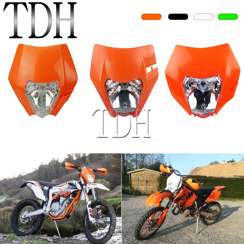 Supermoto Headlamp for KTM SX F EXC XCF XCW SMR 125 <font><b>250</b></font> 350 500 Six Day MX <font><b>Enduro</b></font> Headlight Front Lamp Mask 2012-2019 Lighting image